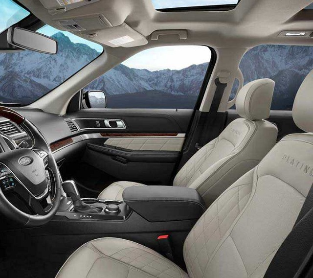2019 Ford Explorer and Explorer Sport interior