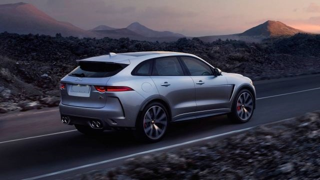 2020 Jaguar F-Pace rear view